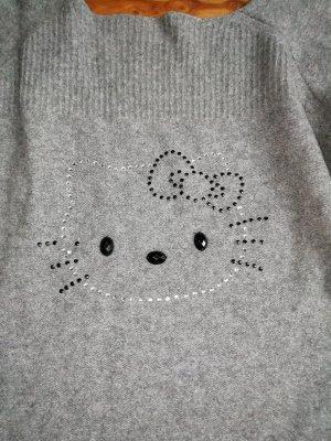 Handmade Hello Kitty Wollen trui grijs