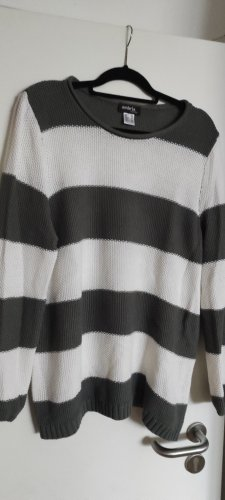 Ambria Selection Long Sweater white-green grey polyacrylic