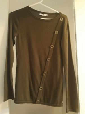 AJC Kraagloze sweater taupe