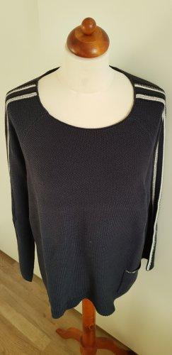 Monari Coarse Knitted Sweater dark blue