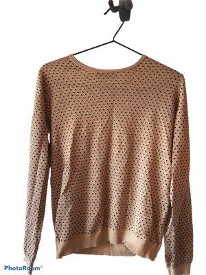 Mango Linnen blouse zandig bruin-donkerrood
