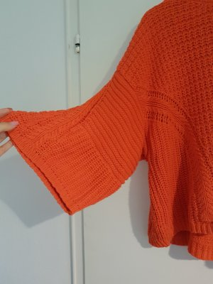 Zara Knit Pull à gosses mailles orange