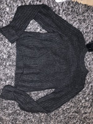 H&M Divided Crochet Sweater black
