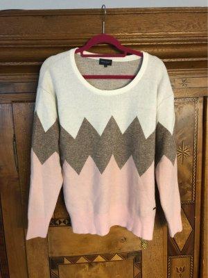 Brodway Sweter z okrągłym dekoltem w kolorze różowego złota-kremowy
