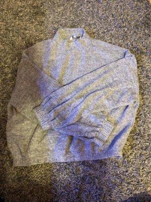Clockhouse Polarowy sweter jasnoszary-biały
