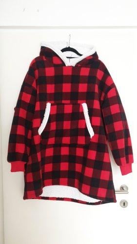 Sweter oversize czarny-czerwony