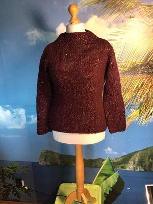 ae elegance Coarse Knitted Sweater brown violet-gold orange
