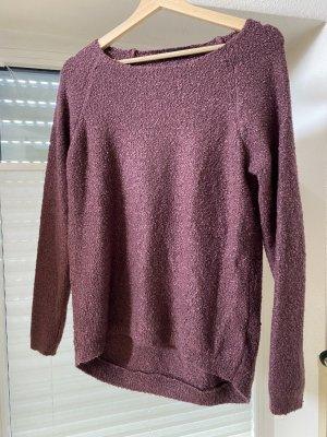 Colours of the World Sweter z dzianiny czerwona jeżyna-purpurowy