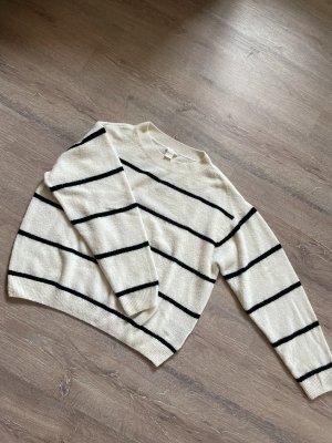 H&M Norwegian Sweater white-black