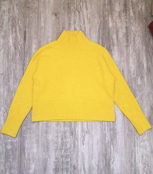 & other stories Sweter z golfem żółty neonowy