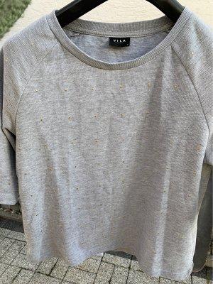 Vila Short Sleeve Sweater light grey