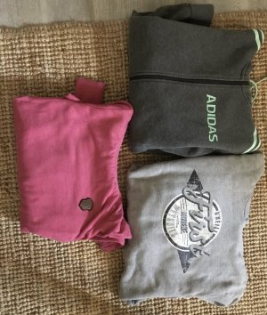 Naketano Capuchon sweater roze-grijs