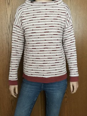 B.young Kraagloze sweater wit-rood
