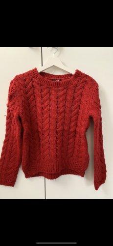 H&M Jersey de punto rojo oscuro-rojo