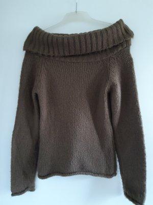 C&A Wełniany sweter oliwkowy