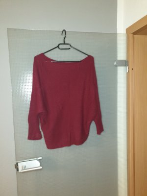 Crochet Sweater dark red