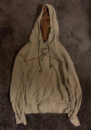 Maloja Sweter z kapturem jasnoszary-brązowy