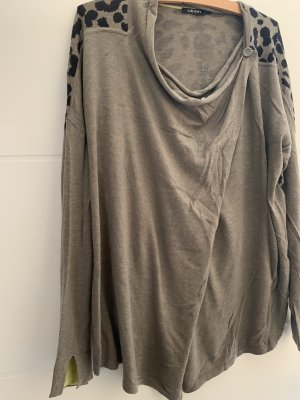 Olsen Veste sweat gris brun-noir