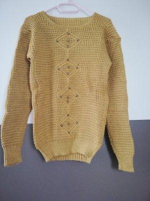 Maglione di lana sabbia