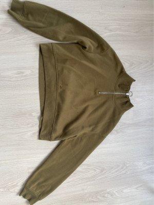 H&M Basic Pull marin vert olive