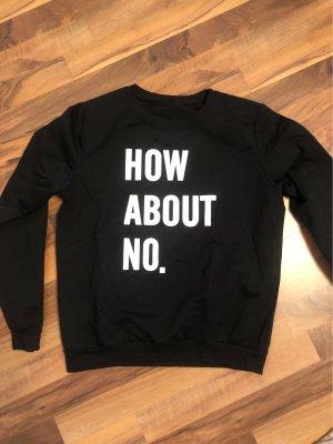 SheIn Crewneck Sweater black-white