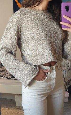 Zara Abito maglione beige-color cammello