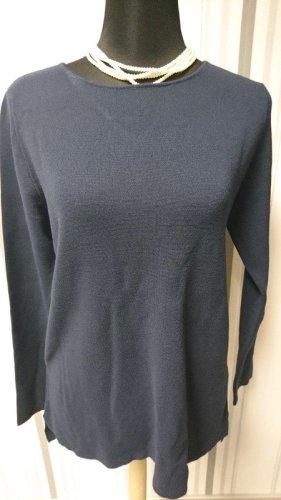 Betty & Co Sweter z okrągłym dekoltem niebieski Wiskoza