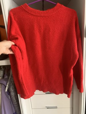 Zara Pull polaire rouge