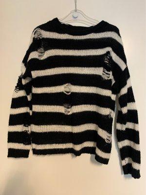 Primark Knitted Sweater black-white