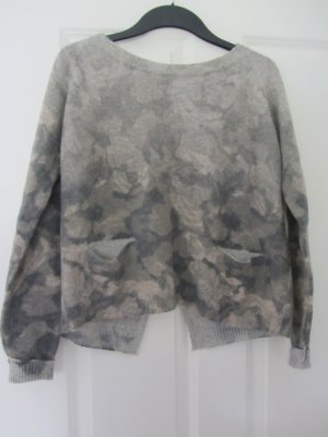 Cream Knitted Sweater multicolored polyacrylic