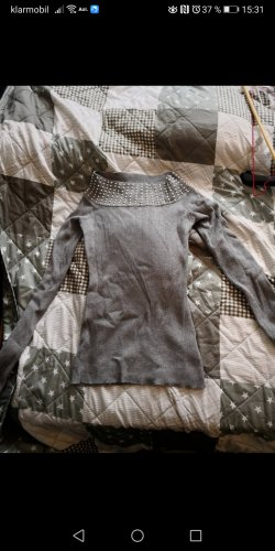 Blind Date Carmen Shirt light grey-grey