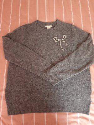 H&M Camicia maglia grigio