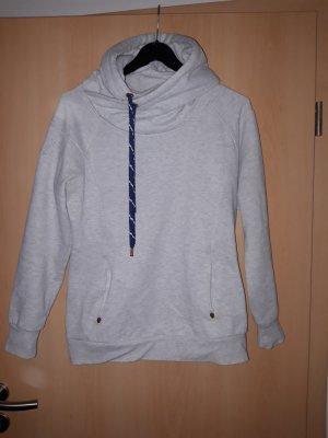 Only Pull à capuche gris clair-bleu