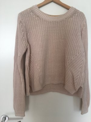 Coarse Knitted Sweater pink-dusky pink