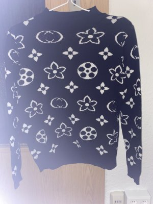 Wool Sweater black-white