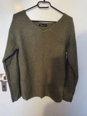 Takko Maglione lavorato a maglia grigio-verde-verde oliva