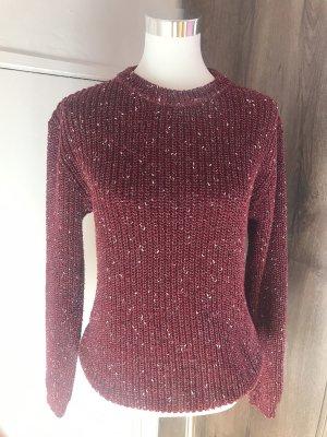 Wełniany sweter głęboka czerwień