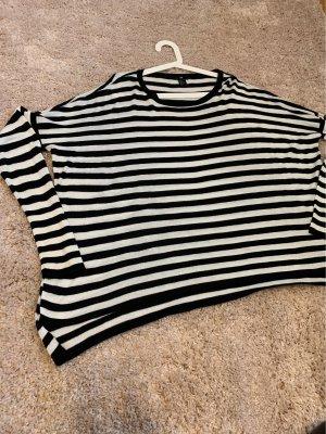 H&M Oversized Sweater black-natural white