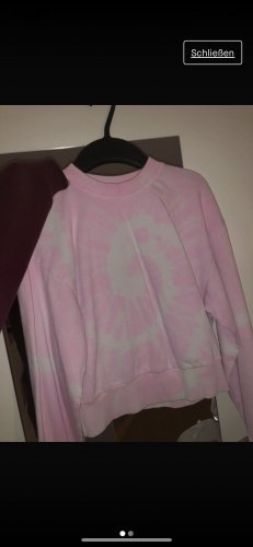 Bershka Sweatshirt blanc-rose