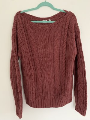 Esprit Coarse Knitted Sweater bordeaux