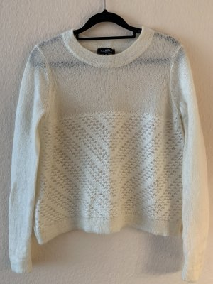 Caroll Kaszmirowy sweter w kolorze białej wełny