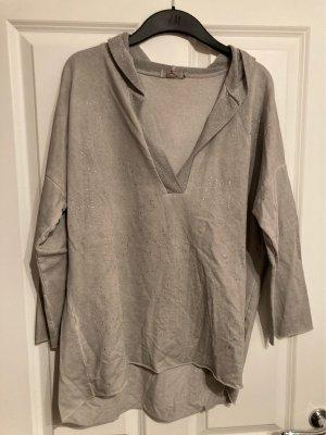 Made in Italy Maglione oversize grigio chiaro