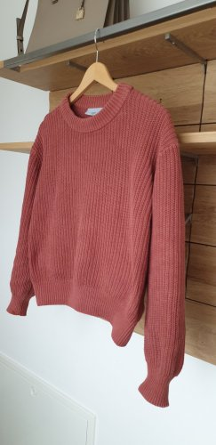 Minimum Knitted Sweater cognac-coloured cotton