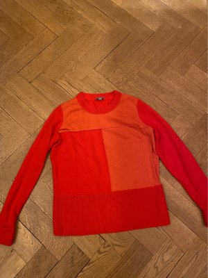 COS Pull en laine rouge-orange
