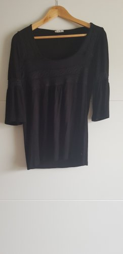 Street One Warkoczowy sweter czarny