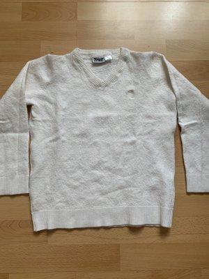 Crivit Maglione lavorato a maglia bianco sporco Lana