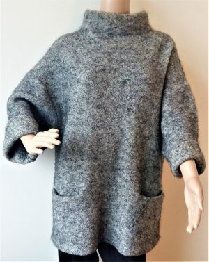 by Malene Birger Oversized Sweater silver-colored mohair