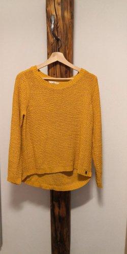 Only Fashion Sweter z grubej dzianiny żółty