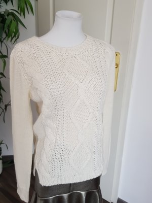 Marella Wełniany sweter kremowy