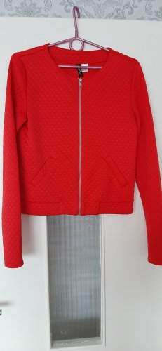 H&M Oversized Sweater red